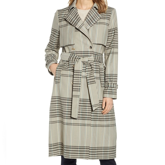 21fc380e224c5 Ted Baker London Buckle Cuff Check Trench Coat